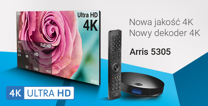 Dekoder Arris 5305 4K Ultra HD 4K